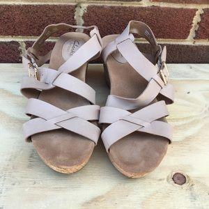 Clark Artisan Wedge Sandals size 8.5